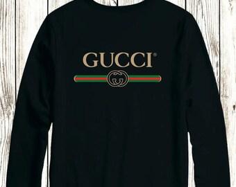 Gucci Logo Crewneck Gift Christmas Unisex Sweater Sweatshirt Pullover For  Men And Women Hypebeast Desiger Inspired 93bab60ebaa