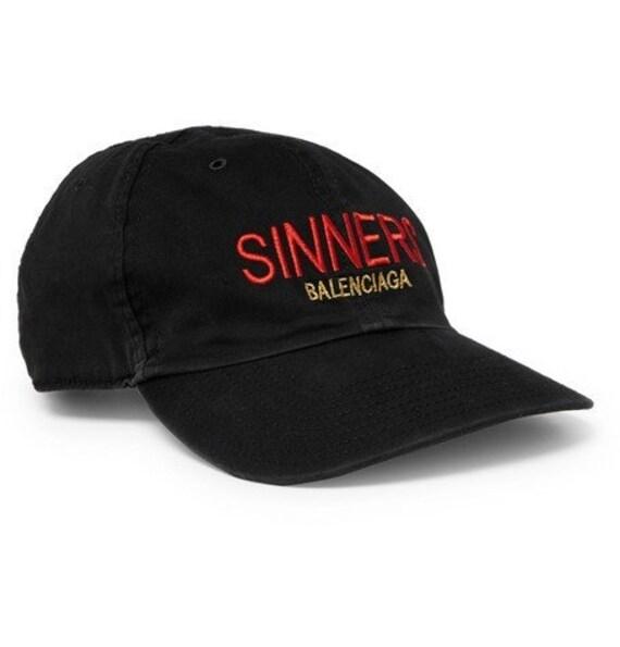 05eae528f68 Balenciaga Cap Balenciaga Sinners Baseball Hat Cap Dad Cap