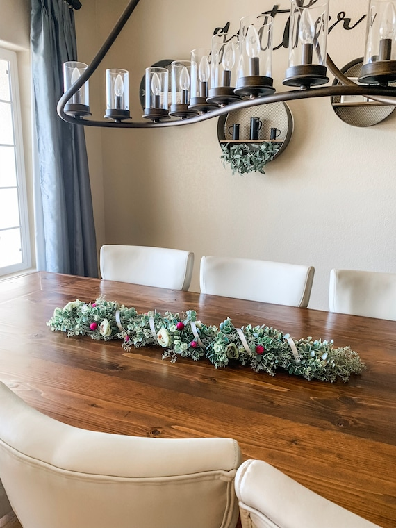 Table Centerpiece For Dining Table Fall Table Garland 36 Etsy