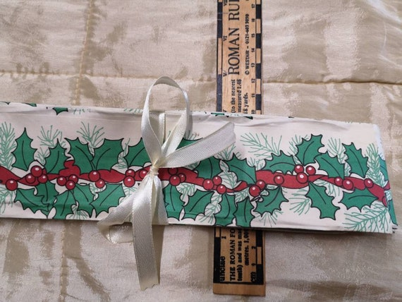 Christmas. Vintage wired florists paper ribbon