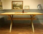 Handcrafted Salvage Wood Dining Table