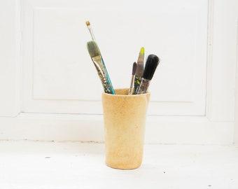 Ceramic Paint Brush Holder, Handmade Paintbrush Pot, Artisan Paint Brush Rest, Paintbrush Storage, Art Tools, Art Accessories, Artist