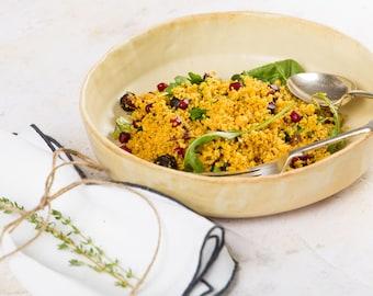 Ceramic Serving Bowl, Handmade Large Dish, Artisan Salad Bowl, Fruit Bowl, Tableware, Serving Dish, Sharing Bowl, Outdoor Dining, BBQ