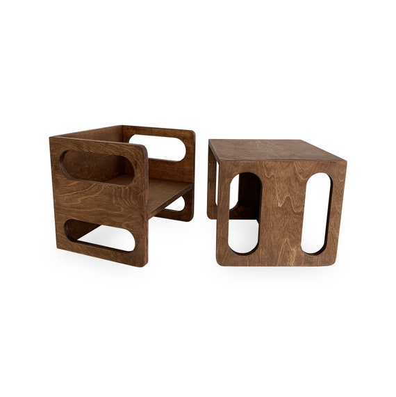 Kimboo Cube Choco Montessori Cube Chair Kids Chair Cube Etsy