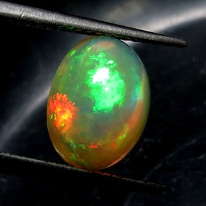 1.5 Cts 100/% Natural Ethiopian Opal Cabochon Multi Color Fire AAA++ Quality Opal Cabochon Gemstone Size 12x6.5x4.5 Pear Shape Free Shipping