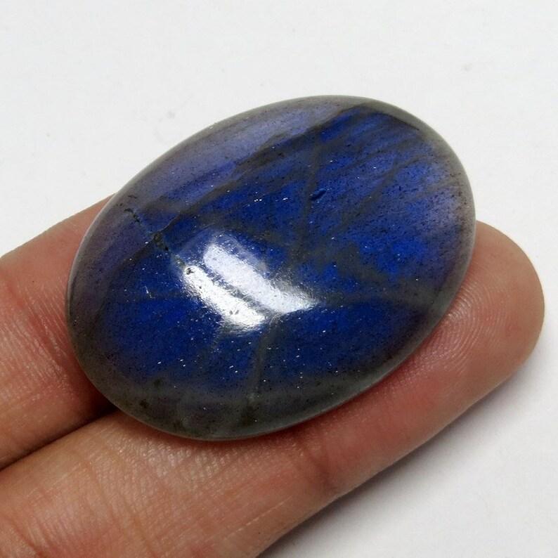 40/% OFF Natural Beautiful Blue Labradorite Flashy Fire Cabochon Loose Gemstone 68.2 Cts Labradorite Size 38x27x8 mm Oval Shape Free Shipping