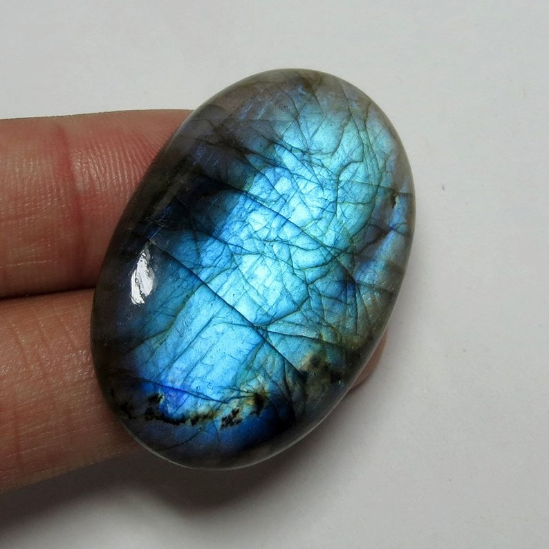 Labradorite Oval Cabochon Size- 11x9 MM Smooth Cabochons. AAA Loose Gemstone Lot Blue Flashy