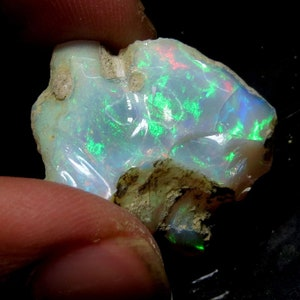 Quality Natural Ethiopian Fire Opal Rough Multi Color Opal Rough Rare Quality Rough Stone Size 33x19x14 MM 44.4 Cts 100/% AAA+