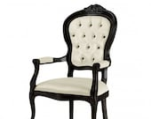Deauville Louis XVI Armchair Bespoke Custom Finished Wood Upholstered To Order Handmade Seating By Millmax