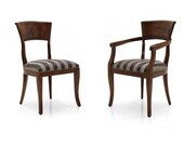 Noce Upholstered Dining Chair or Carver Armchair Bespoke Custom Finished Upholstered To Order Handmade Seating Millmax