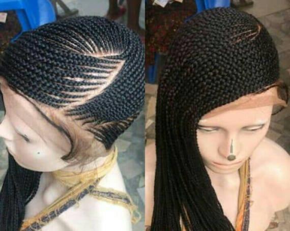 Full lace cornrow braided wig/full lace wig/lemonade braided wig/side braids