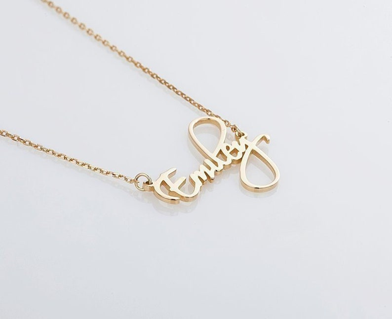 2c7eb0a03 Custom name necklace Monogram jewelry Silver Personalized   Etsy
