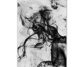 Black & White Swirl Print Poster