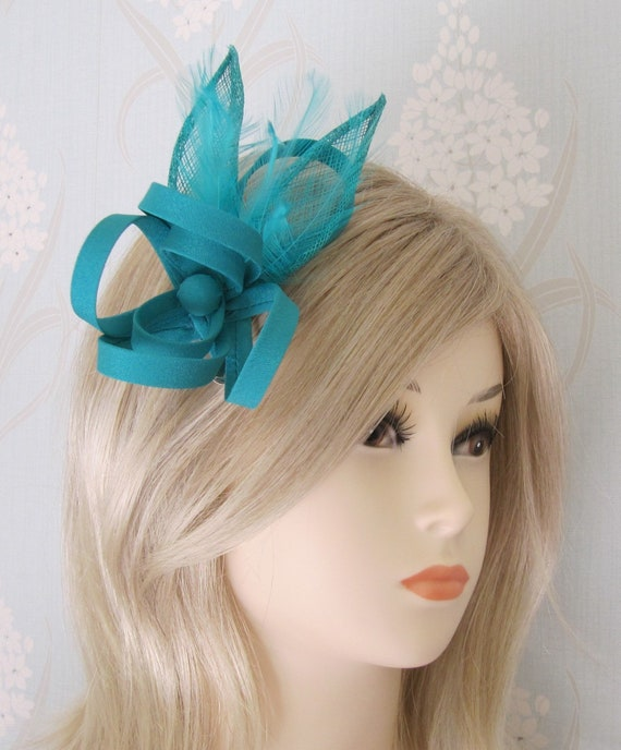 Weddings Ladies Day,Ascot Races Fascinator in  cream with black feathers