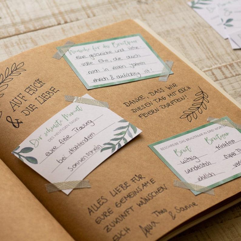Gästebuch Fragekarten Hochzeit