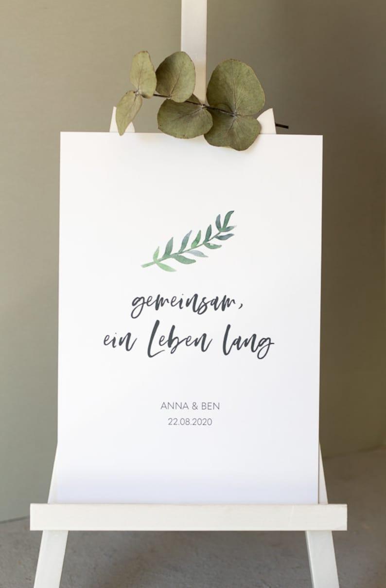 Hochzeitsschild personalisiert