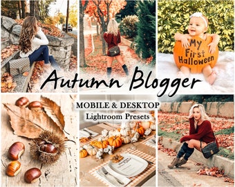 12 Mobile LIGHTROOM Presets, Autumn presets, Fall presets, Influencer Preset, lightroom preset, warm, Desktop Preset, Instagram filter, vsco