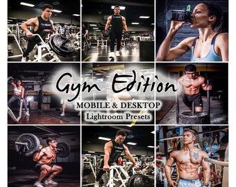 FITNESS PRESETS , Gym presets, Mobile LIGHTROOM Presets, Mobile Presets,Lightroom Preset, Instagram Preset, Desktop Preset - Gym Edition