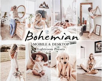 14 Mobile LIGHTROOM Presets, lightroom mobile preset, Desktop Presets  Bohemian Light Lightroom Preset, Bright Instagram, Summer Filters