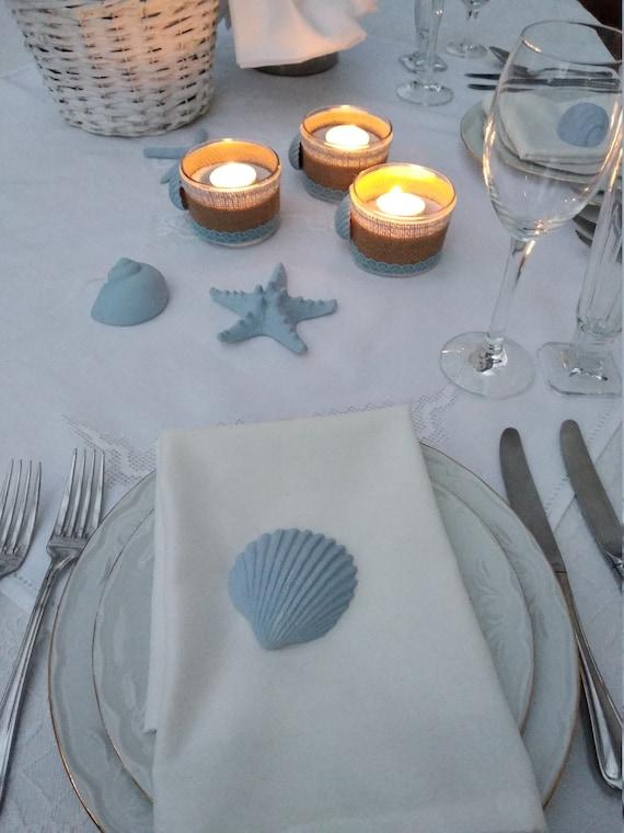Coastal Wedding Table Decor Beach Themed Wedding Etsy