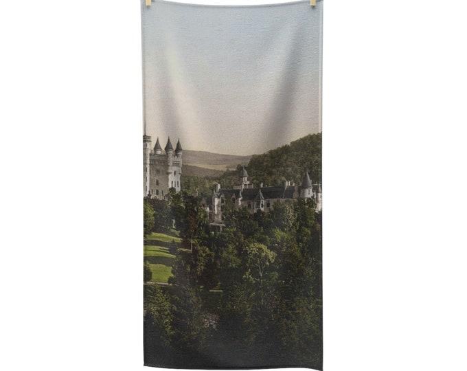 Balmoral Castle, Scotland - Poly-cotton Bath Towel - From An Antique Vintage Postcard, Circa 1890 To 1906.
