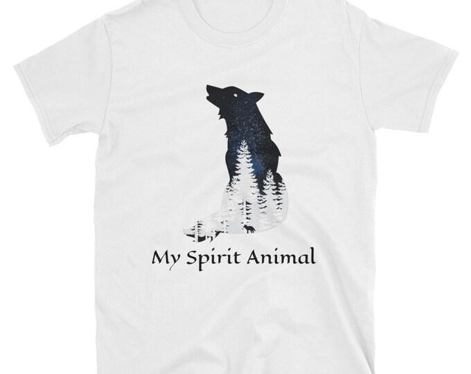 My Spirit Animal, Short-Sleeve Unisex T-Shirt, Wolf, Jack London Inspired