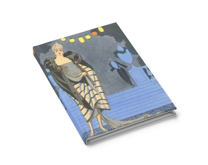 Roaring Twenties Party - Ruled Line Journal With An Image From An Antique Vintage Illustration, Circa 1923.