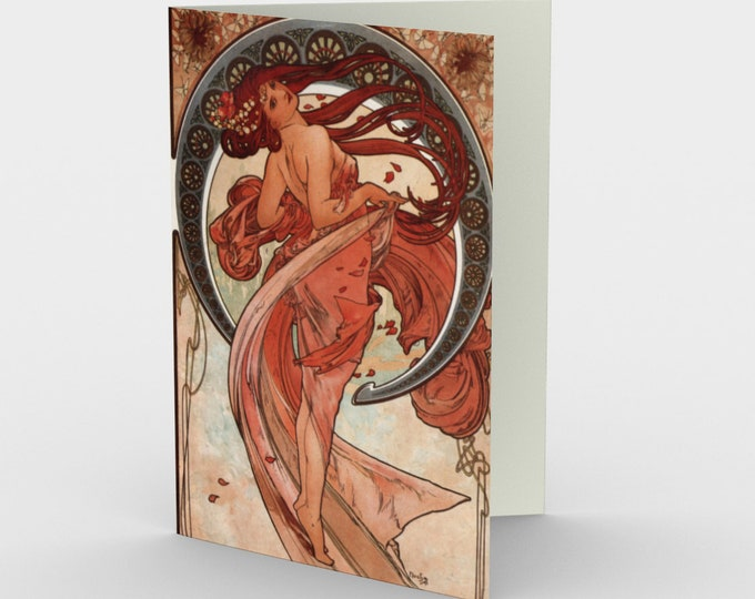 Dance - Stationery Cards (3), With An Image From An Antique Vintage Illustration, Circa 1898.