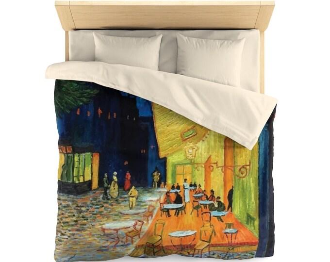 Cafe Terrace At Night, Microfiber Duvet Cover, Vintage, Antique Painting, Vincent Van Gogh, 1888