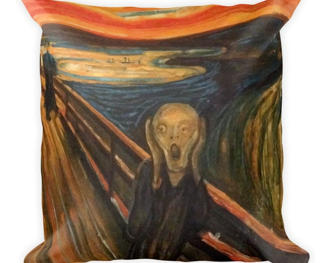 The Scream, All-Over Print Basic Pillow Case With Stuffing, Vintage, Antique Painting, Edvard Munch, 1893