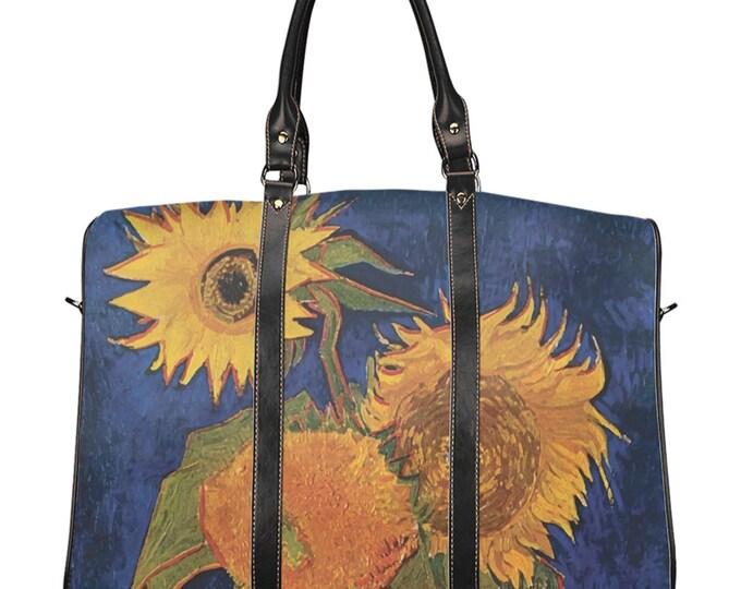 Six Sunflowers, Travel Bag, Vintage, Antique Painting, Vincent Van Gogh, 1888