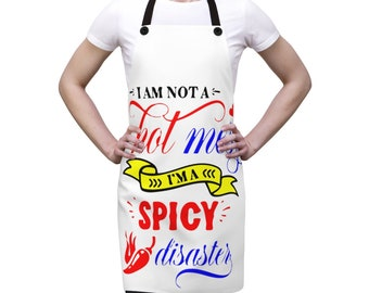 Personalized Embroidered custom Adult Apron HOT MESS