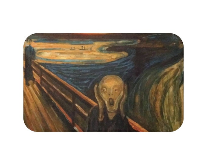 The Scream, Microfiber Bat Mat, Vintage, Antique Painting, Edvard Munch, 1893