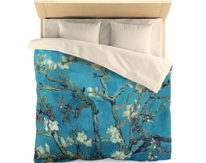 Almond Blossoms, Microfiber Duvet Cover,  Vintage, Antique Painting, Vincent Van Gogh, 1890