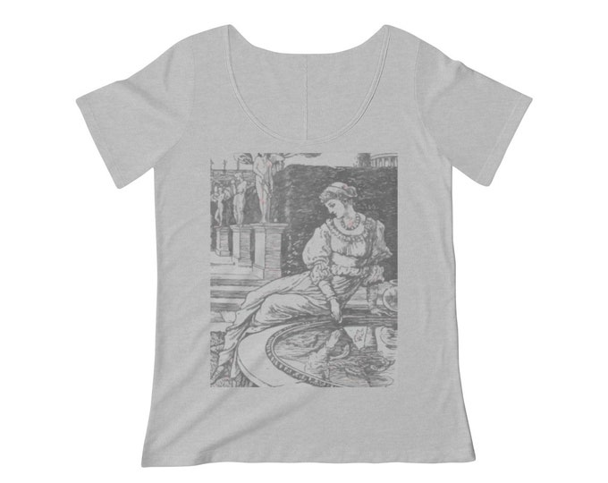 Antheia, Goddess Of Gardens, Women's Scoop Neck T-shirt, 1886 Vintage Illustration