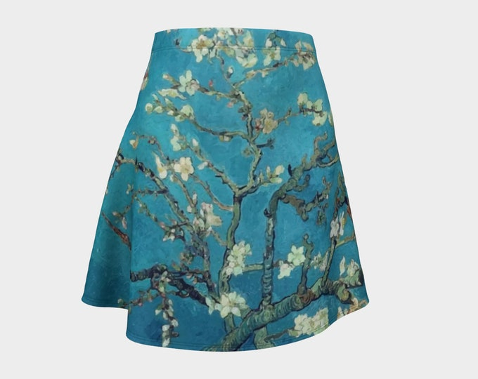 Almond Blossoms, Women's Flare Skirt, Vintage Painting, Van Gogh 1890