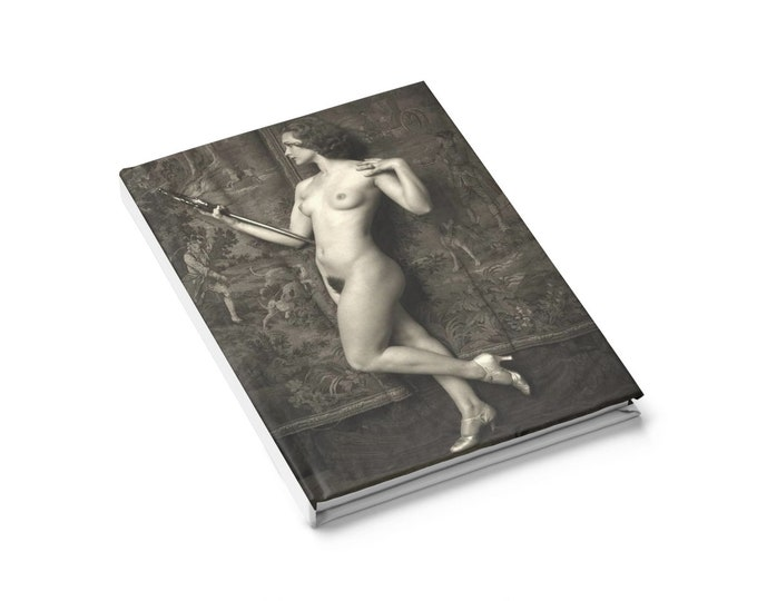 Drucilla Straine, Ziegfeld Girl - Ruled Line Journal With An Image From An Antique Vintage Photo, Circa 1920.