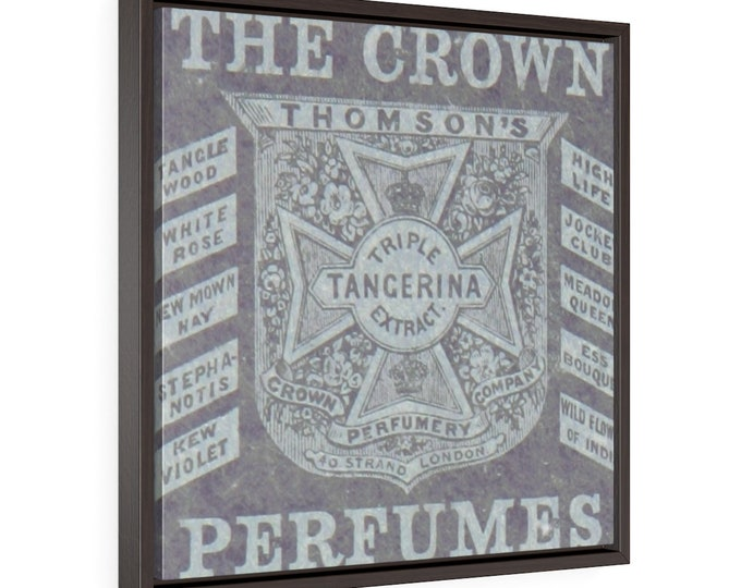 Framed Wrapped Canvas With A Vintage Image Of A ThomsonS Perfumery Advertisement Circa 1876