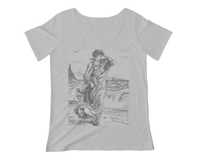 Minerva, Roman Goddess Of Wisdom, Women's Scoop Neck T-shirt, 1886 Vintage Illustration