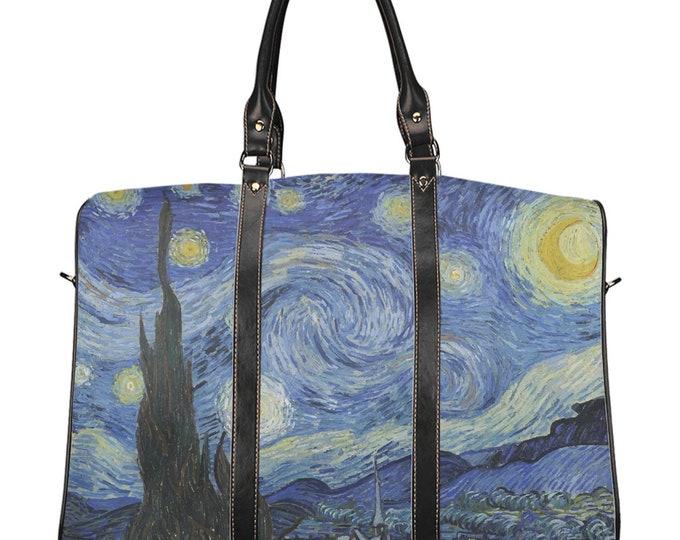 Starry Night, Travel Bag, Vintage, Antique Painting, Vincent Van Gogh, 1889