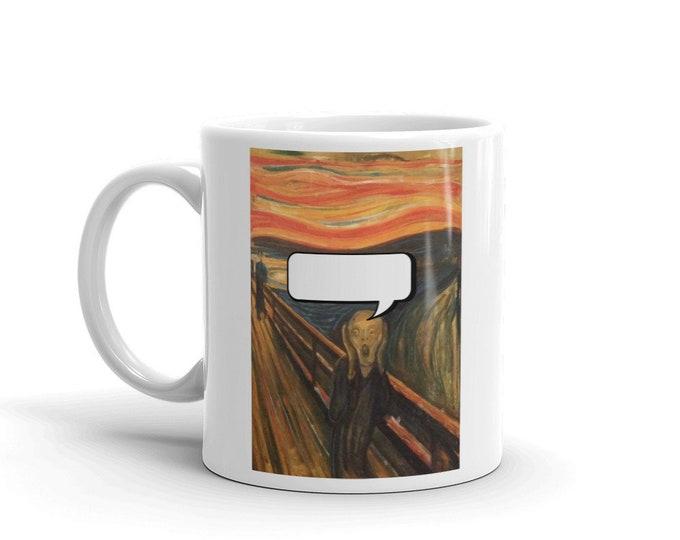 You Scream, Coffee Mug, Vintage, Antique Painting,  Edvard Munch  1893