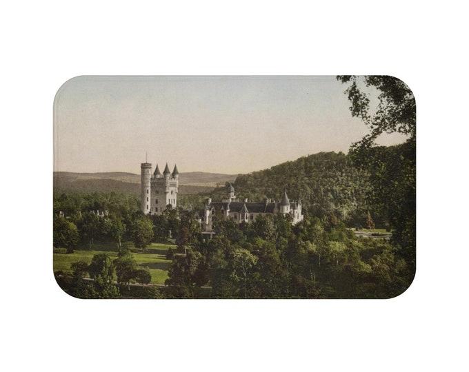 Balmoral Castle, Scotland, Microfiber Bath Mat, Antique/Vintage Postcard Circa, 1890 To 1906.