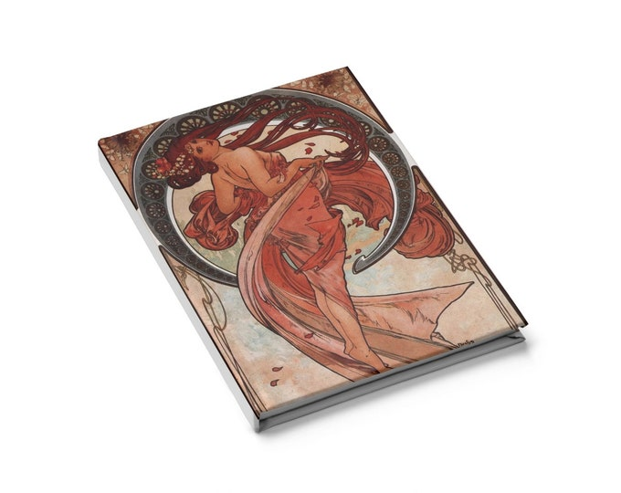 Dance - Blank Page Journal With An Image From An Antique Vintage Illustration, Circa 1898.