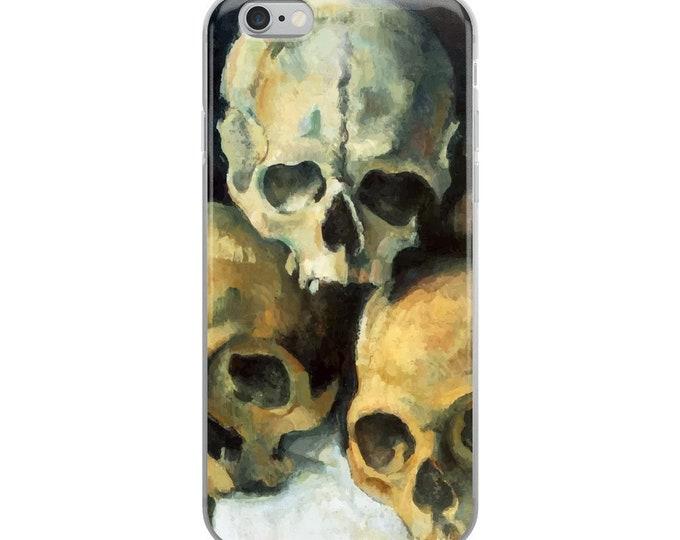 Pyramid Of Skulls, iPhone Case, Vintage Painting, Paul Cezanne 1900