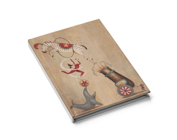 Circus Act - Blank Page Journal With An Illustration From An Antique Vintage Magazine, Circa 1913.