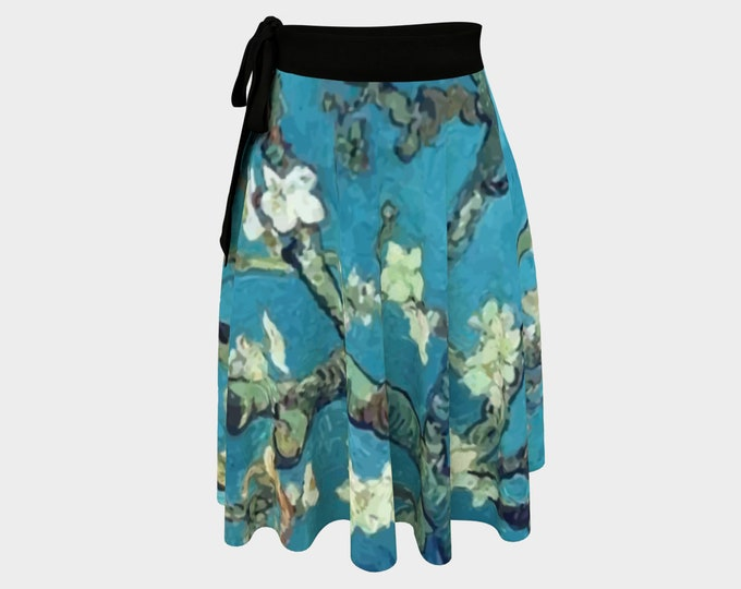 Almond Blossoms, Women's Wrap Skirt, Vintage Painting, Van Gogh 1890