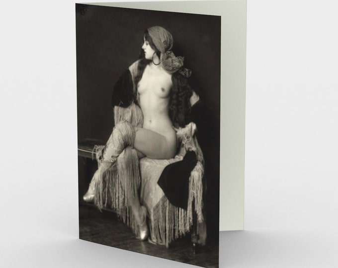 Virginia Biddle, Ziegfeld Girl - Stationery Cards (3), With An Image From An Antique Vintage Photo, Circa 1920.