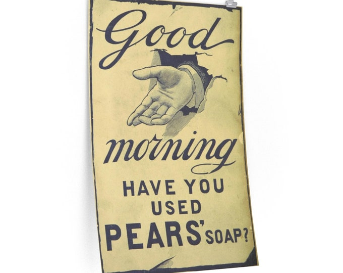 Pears Soap Advertisement - Fine Art Poster - From An Antique Vintage Illustration, Circa 1890.