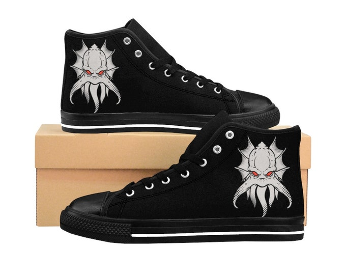 H.P. Lovecraft Inspired, Men's High-top Sneakers