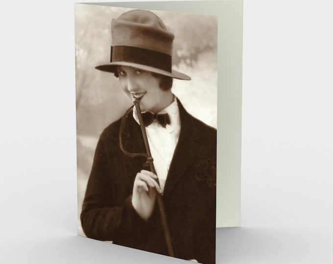 Naughty Thoughts - Stationery Cards (3), With An Image From An Antique Vintage Photo, Circa 1920.